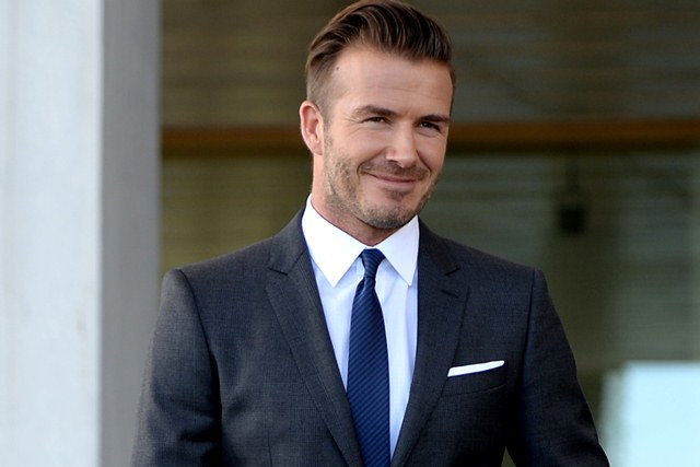 MIAMI, FL - FEBRUARY 05: David Beckham attends a press conference to announce plans for Major League Soccer at PAMM Art Museum on February 5, 2014 in Miami, Florida. (Photo by Uri Schanker/WireImage)