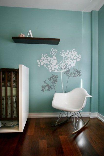 Nice Ideas Of Modern Nursery Wall Decals Blue Tree Modern Nursery Wall Decals Image – Apartment Interior Design